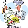 gourmet chef Vector Clipart illustration