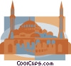 mosque, Constantinople Vector Clipart graphic