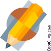 Vector Clipart illustration  of a pencil