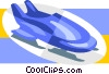 Vector Clip Art image  of a bobsled