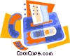 fax machine Vector Clipart picture