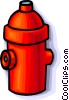 Vector Clip Art image  of a fire hydrant