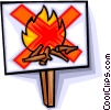 no campfires allowed Vector Clipart graphic