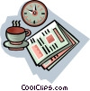 Vector Clipart picture  of a morning coffee break