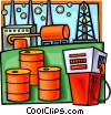 Vector Clipart image  of a petroleum and gas refining