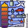 Natural gas as an alternative fuel Vector Clipart picture