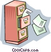 Vector Clip Art graphic  of a filing cabinet