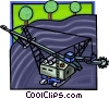 strip mining, destruction of the environment Vector Clipart graphic
