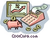 financial growth Vector Clip Art picture
