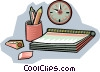 notebook with pencil Vector Clipart image