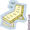 Vector Clipart picture  of a patio lounge chair