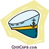 Vector Clip Art image  of a captain's cap