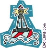 buoy, channel marker Vector Clip Art picture