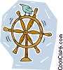 captain's wheel Vector Clipart illustration