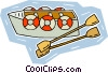 Vector Clipart graphic  of a life boat