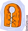 Vector Clipart graphic  of a life vest