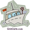 Vector Clip Art graphic  of a luxury yacht