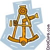 Vector Clipart graphic  of a sextant