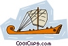 sailing vessel Vector Clip Art picture
