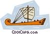 sailing vessel Vector Clipart image