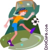 Vector Clipart illustration  of a soccer player