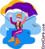 person parachuting Vector Clip Art image