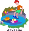 wading pool Vector Clipart picture