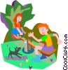 Vector Clipart picture  of a see saw teeter totter