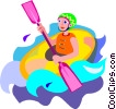Vector Clip Art picture  of a white water rafting