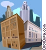 Vector Clipart graphic  of a Chicago