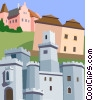 Czech Republic, South Bohemia Vector Clipart illustration