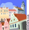Czech Republic, South Bohemia Vector Clip Art picture