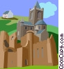 Vector Clipart graphic  of a Medieval Dublin Cathedral