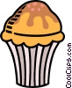 Vector Clipart picture  of a muffin