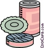 Vector Clip Art graphic  of a tin of sardines