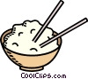 bowl of rice Vector Clipart picture