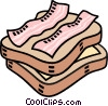 Vector Clipart graphic  of a cheese and bacon sandwich