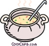 Vector Clip Art graphic  of a chowder