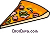 Vector Clip Art image  of a pizza