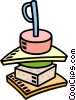Vector Clip Art picture  of a hors d'oeuvres