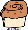 Vector Clipart image  of a muffin