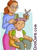 Vector Clip Art graphic  of a barber