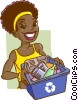 Vector Clipart picture  of a recycle