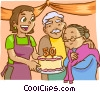 anniversary, birthday Vector Clipart illustration