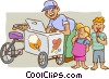 Vector Clip Art image  of a ice cream man