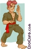Vector Clipart image  of a Martial artist