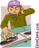 disk jockey Vector Clipart illustration