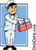 Vector Clip Art graphic  of a milkman
