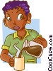 Vector Clipart picture  of a waitress