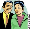 couple Vector Clip Art graphic
